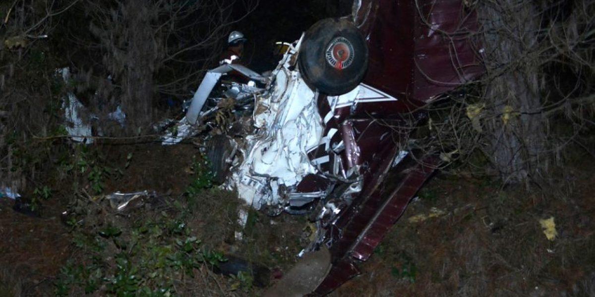 Avioneta deja cuatro heridos tras chocar con bosque en Región del Biobío