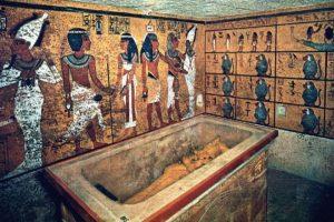 Vista de cómo era la tumba del jven faraón de Egipto. Foto:Reproducción. Imagen Por: