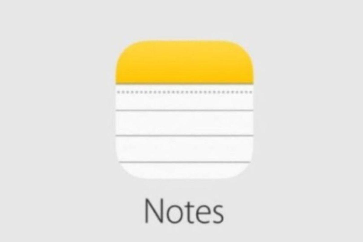 Notes tiene nuevas características. Foto:Apple. Imagen Por: