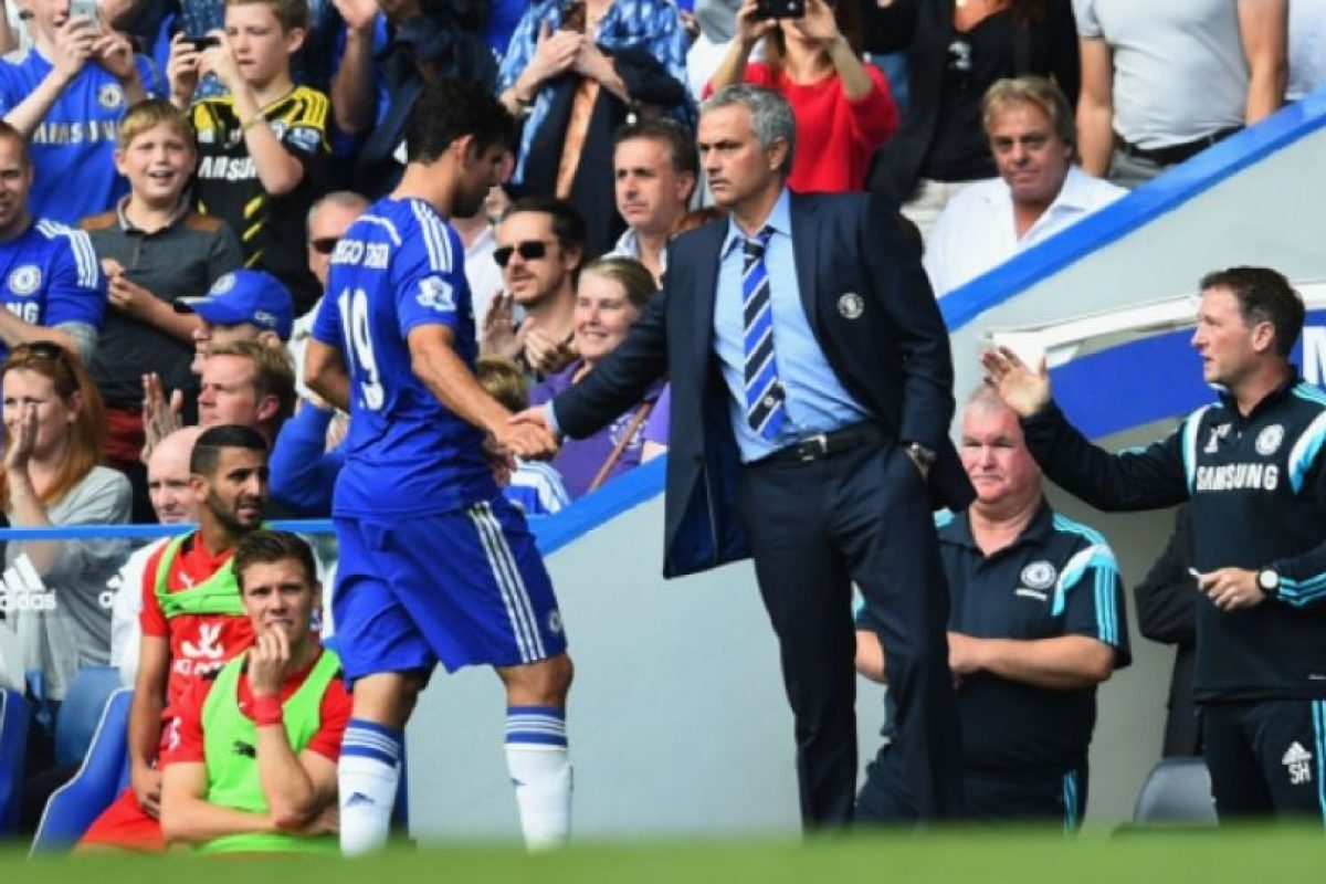 Diego Costa se enojó con José Mourinho. Foto:Getty Images. Imagen Por: