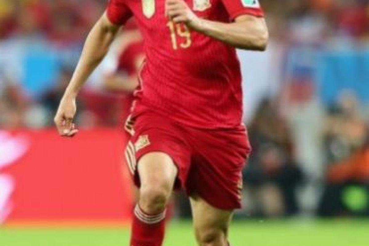 Representó a España en la Copa del Mundo 2014 aunque no pudo anotar en los dos partidos que disputó. Foto:Getty Images. Imagen Por: