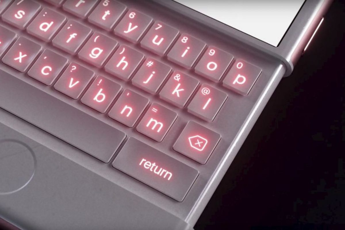 Este sería el teclado del iPhone oro rosado. Foto: vía Curved / YouTube. Imagen Por: