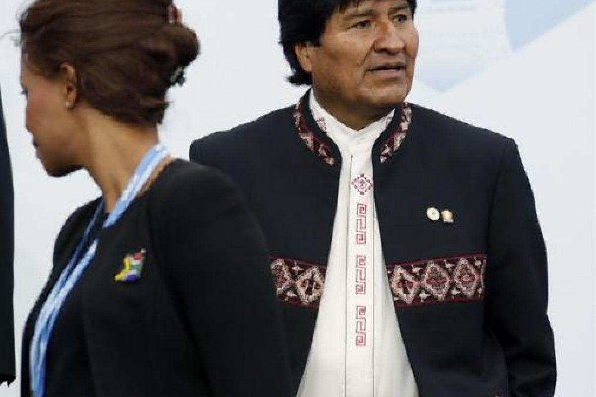 Evo Morales, en la COP21 de París, Francia. Foto:Efe. Imagen Por: