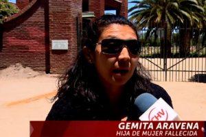La hija de la persona fallecida, quien denunció el hecho. Foto:Reproducción / Chilevisión. Imagen Por: