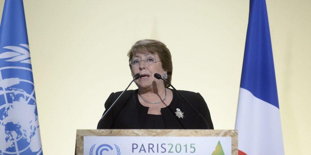 Bachelet en París: Chile también ha sufrido con el cambio climático