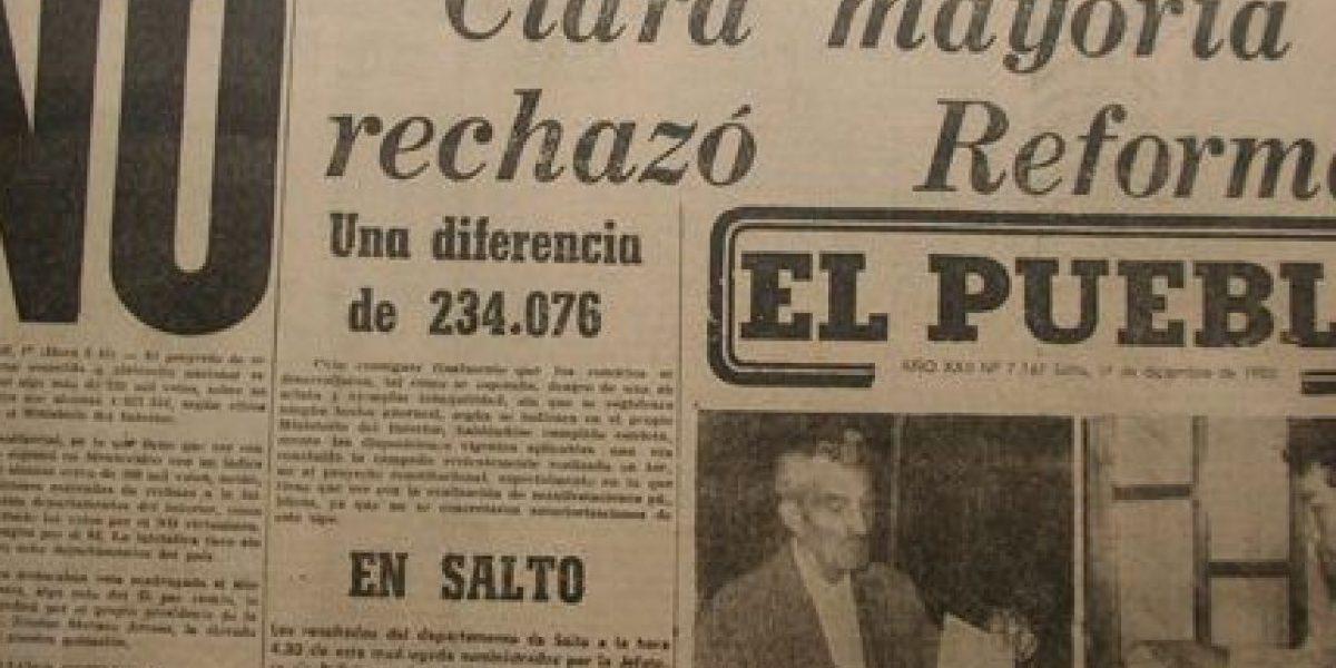Hace 35 años, los uruguayos dijeron No a su dictadura