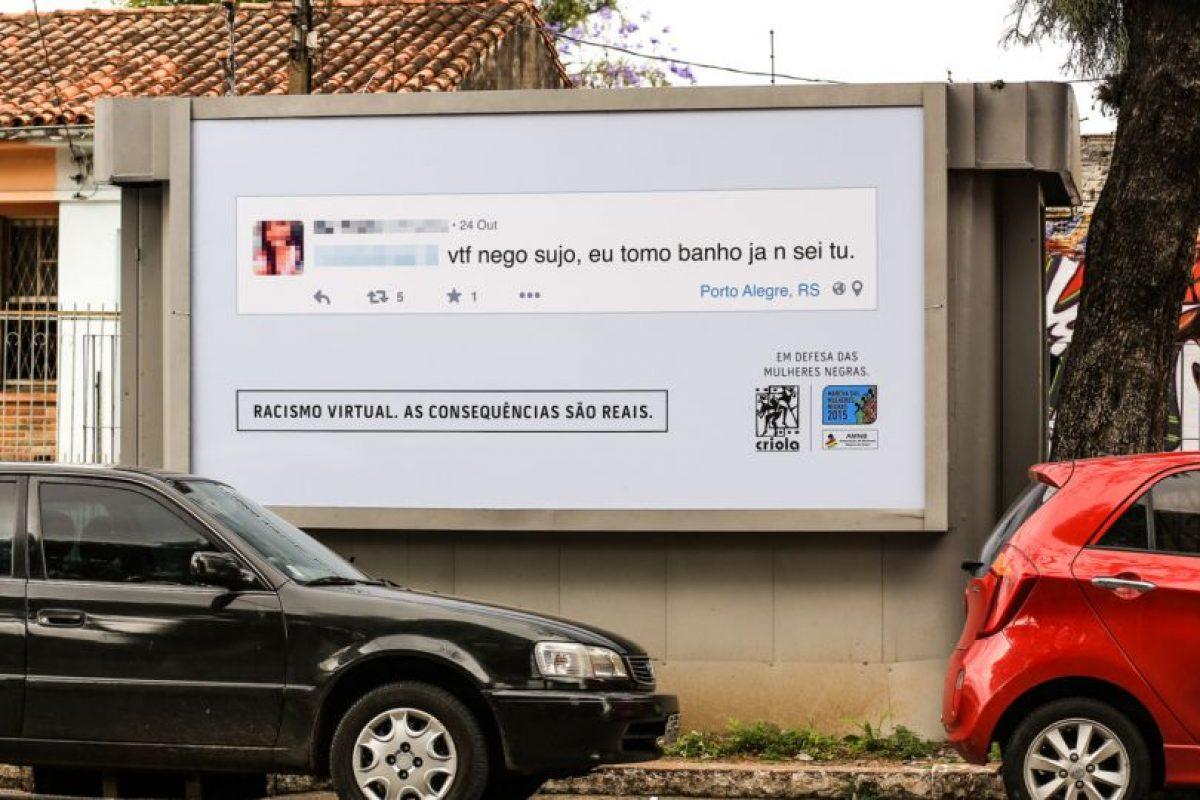 """""""Negro sucio, no sé usted, pero yo me lavo."""" Foto:racismovirtual.com.br/. Imagen Por:"""