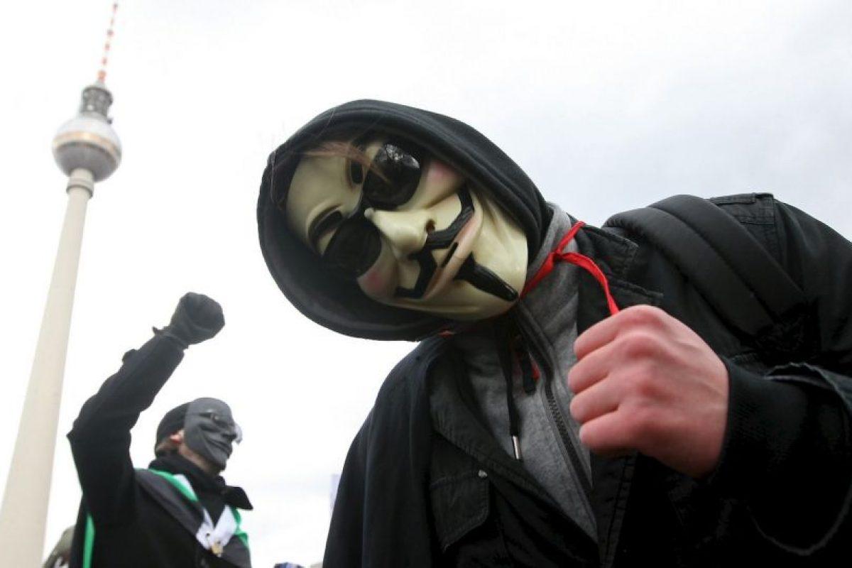 En 2011 el grupo fue parte de las protestas Ocupa Wall Street se infiltró en la web de la NYSE que estuvo sin funcionar algunos minutos. Foto:Getty Images. Imagen Por: