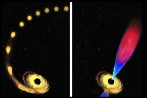 Este hoyo negro era un millón de veces más grande que la masa de nuestro Sol. Foto:Vía Twitter. Imagen Por: