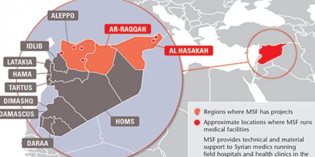 Ataque con barriles explosivos en Siria deja siete muertos en hospital de MSF