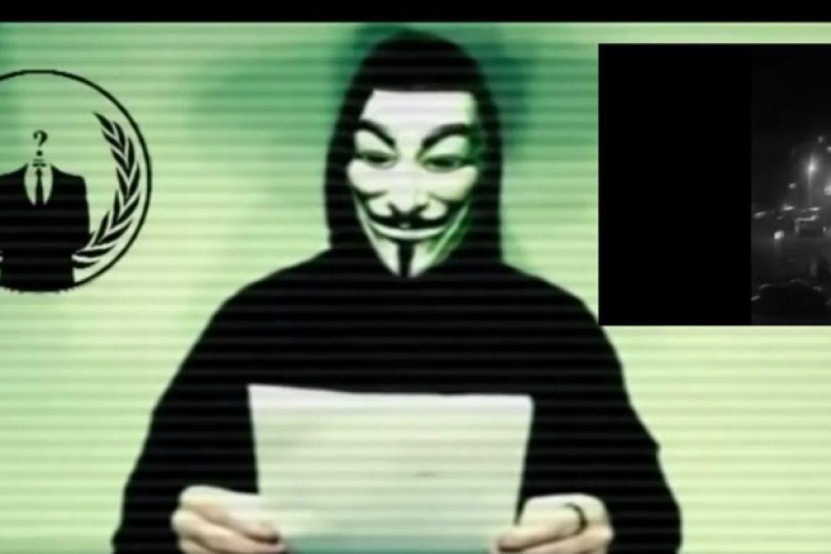 El grupo Anonymous amenazó al EI el 16 de noviembre. Foto:Captura de pantalla. Imagen Por: