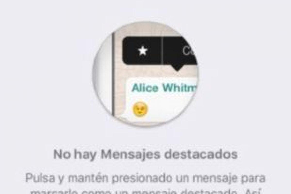 8- Mensajes destacados: Solamente deben dar clic en el icono de la estrella. Foto:Tumblr. Imagen Por: