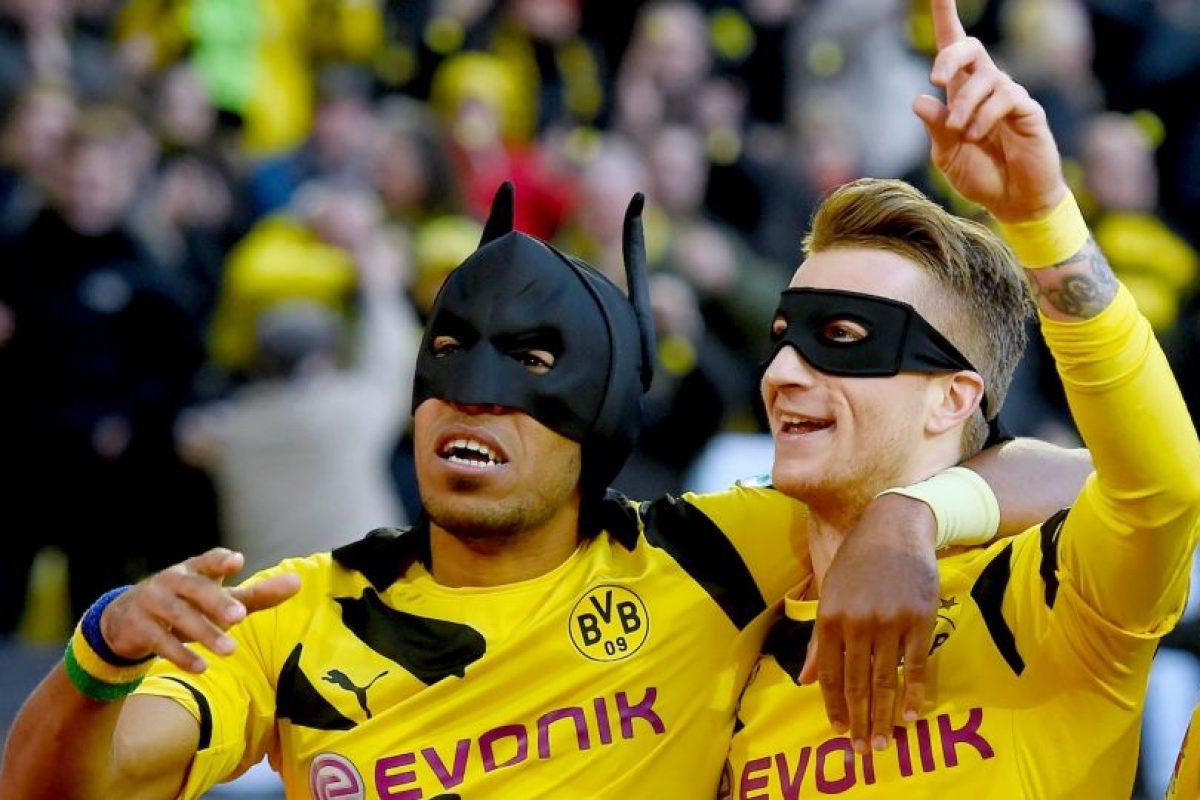 Antes, habían festejado como Batman y Robin Foto:Getty Images. Imagen Por: