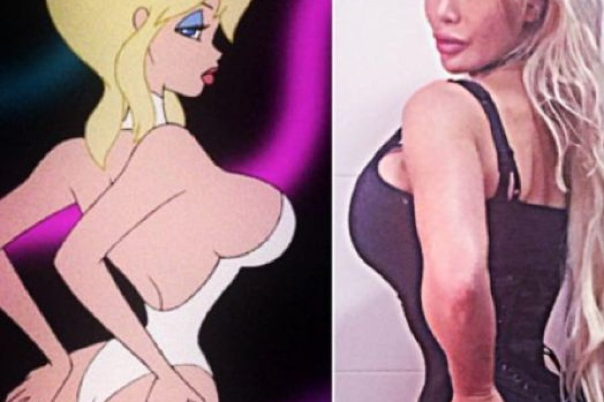 "A caricaturas como Jessica Rabbit y Holli Would, de ""Cool World"" (en la foto). Foto: vía Facebook/Pixee Fox. Imagen Por:"