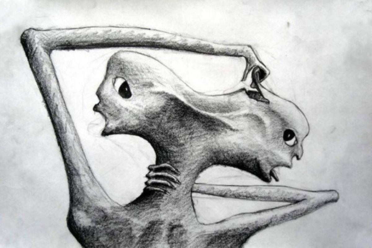 Un dibujo hecho por un paciente siquiátrico Foto:Reproducción. Imagen Por: