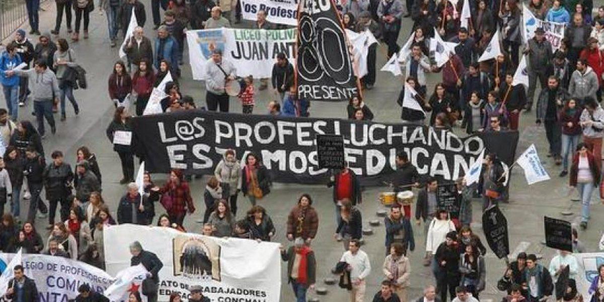 Profesores llaman a una gran marcha nacional para la próxima semana