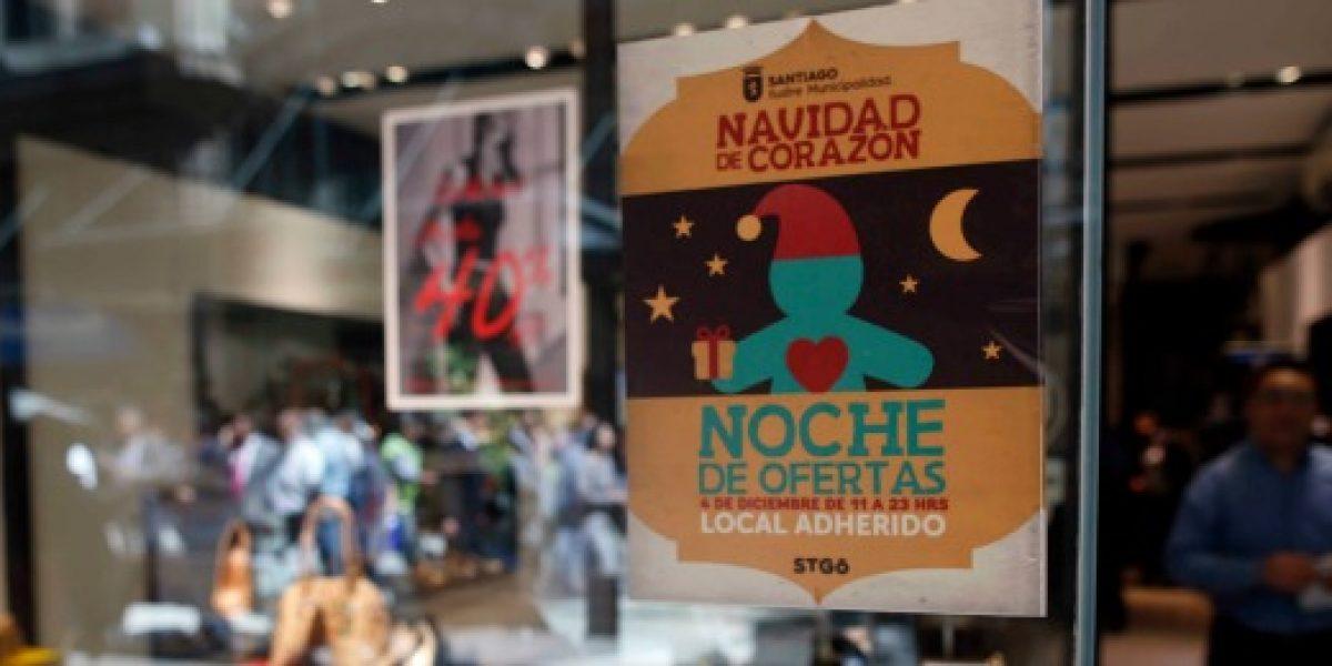 Adelanta tus compras navideñas: Santiago Centro realiza venta nocturna este viernes