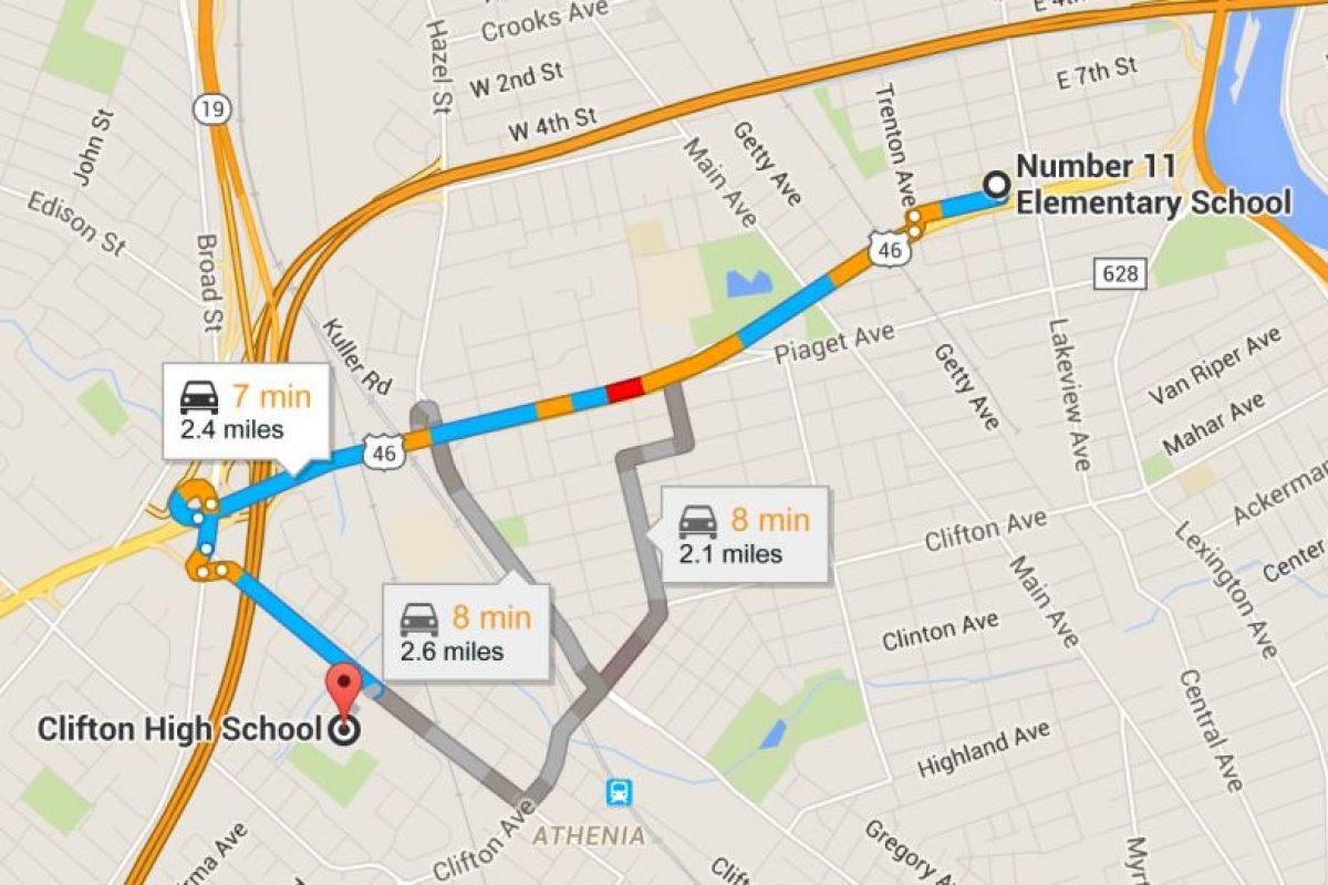 De acuerdo con Google Maps, las instituciones no están muy retiradas. Foto:Vía Google Maps. Imagen Por:
