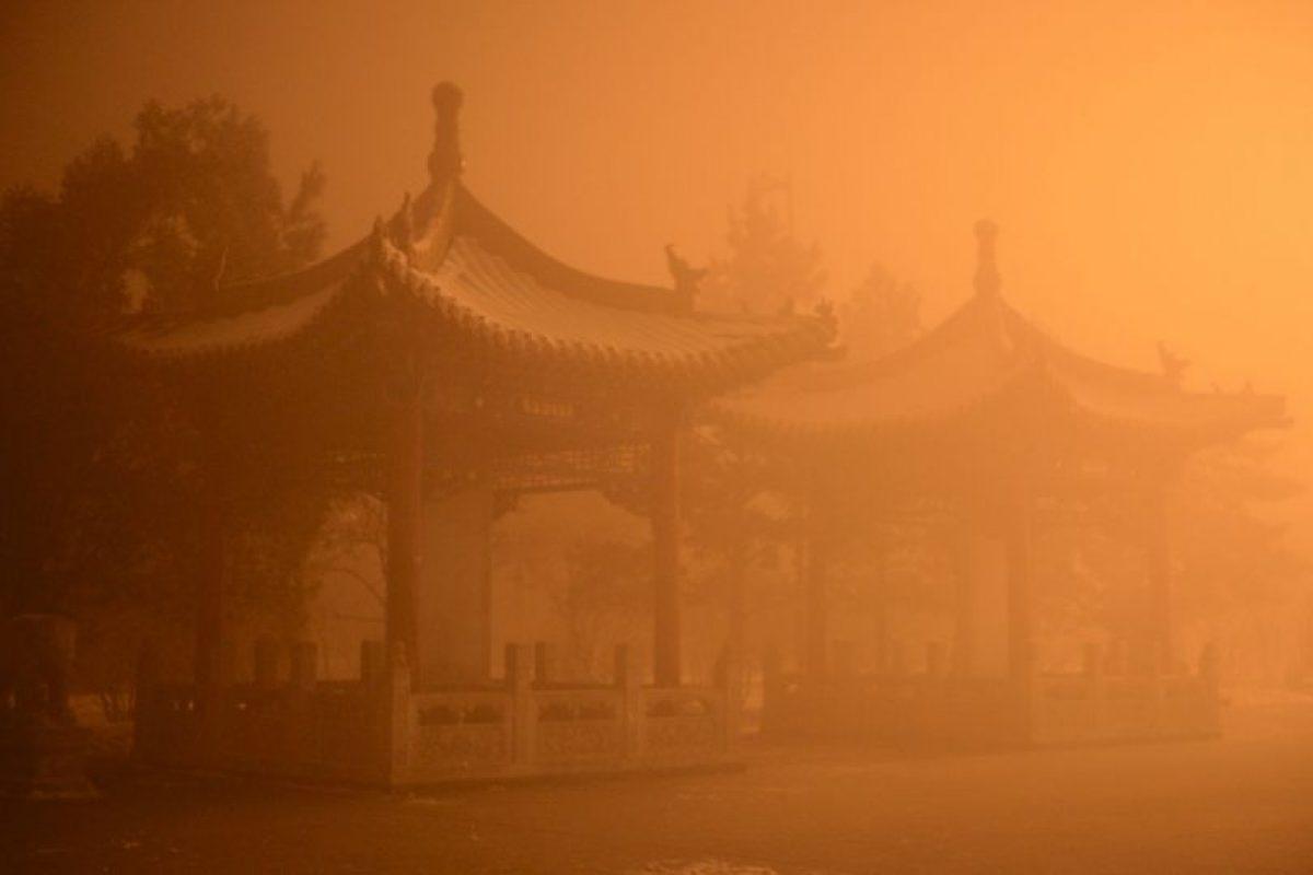Contaminación en China. Foto:AFP. Imagen Por: