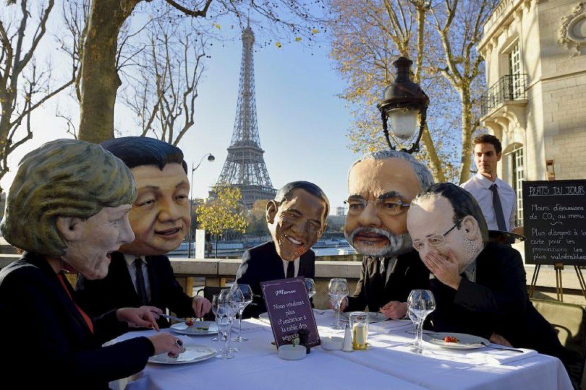 Manifestación por la Cumbre del Clima (COP21) en París, Francia Foto:AFP. Imagen Por: