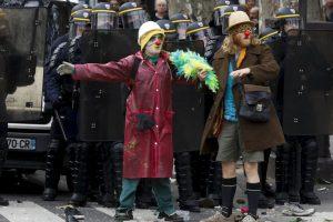 Protestas por el cambio climático en París, Francia. Foto:AFP. Imagen Por:
