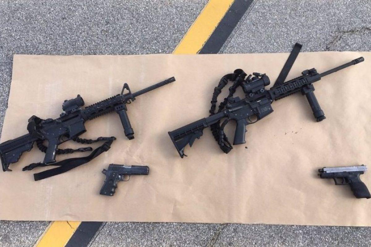 Los sospechosos estaban tenian distintas armas de fuego. Foto:AFP. Imagen Por: