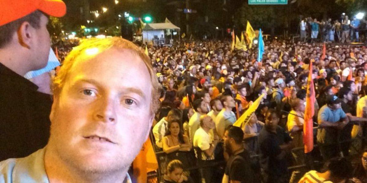 Medio peruano publica foto de diputado RN en noticia de robo de celular