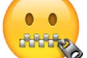 Rostro con la boca de cierre. Foto:vía emojipedia.org. Imagen Por: