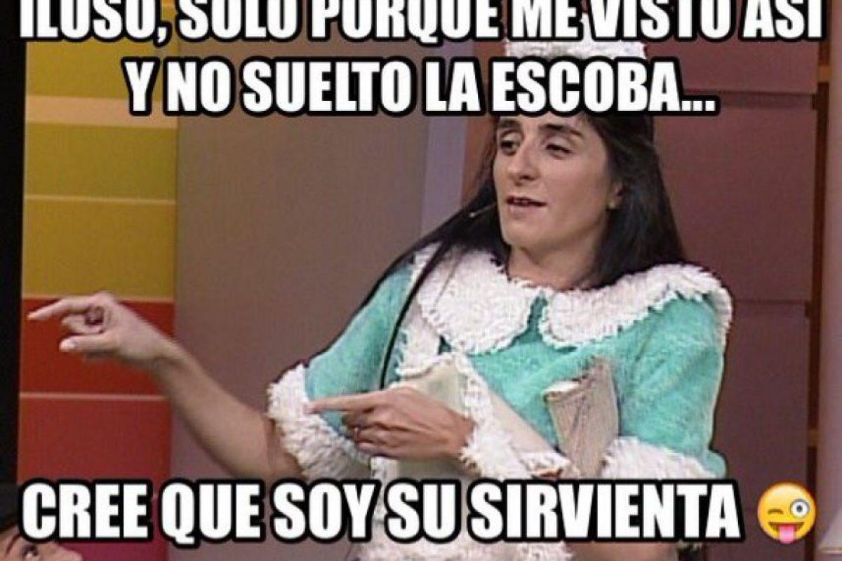 """Bárbara Torres: la actriz argentina fue """"Excelsa"""", la sirvienta de la familia. Foto:vía twitter.com/soybarbara. Imagen Por:"""