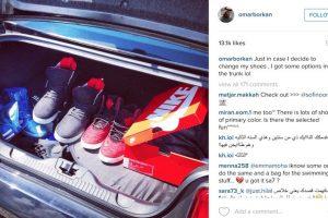 Por ejemplo, guarda estos pares de zapatos en su auto por si en algún momento quiere cambiarlos… Foto:Vía Instagram/@omarborkan. Imagen Por: