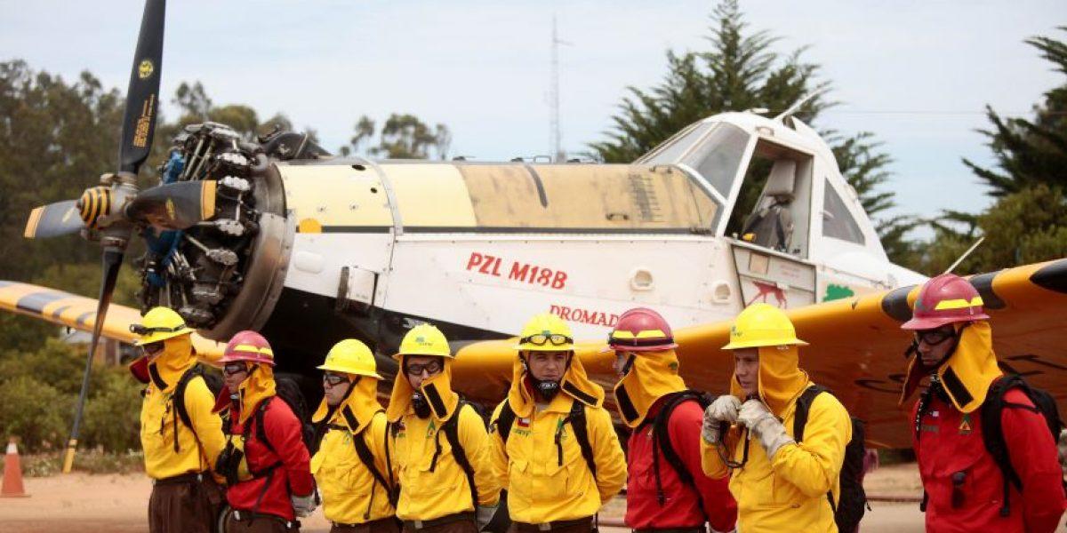 Conaf presentó sus recursos para el combate de incendios forestales en Valparaíso
