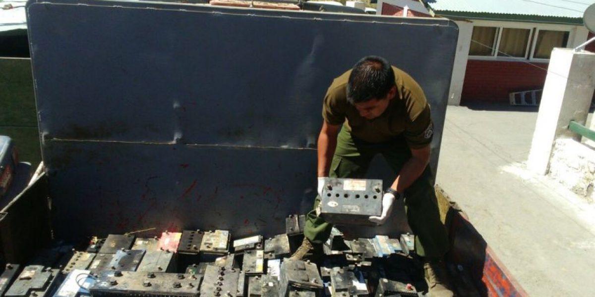 600 baterías decomisadas dejó operativo de Carabineros en la zona norte