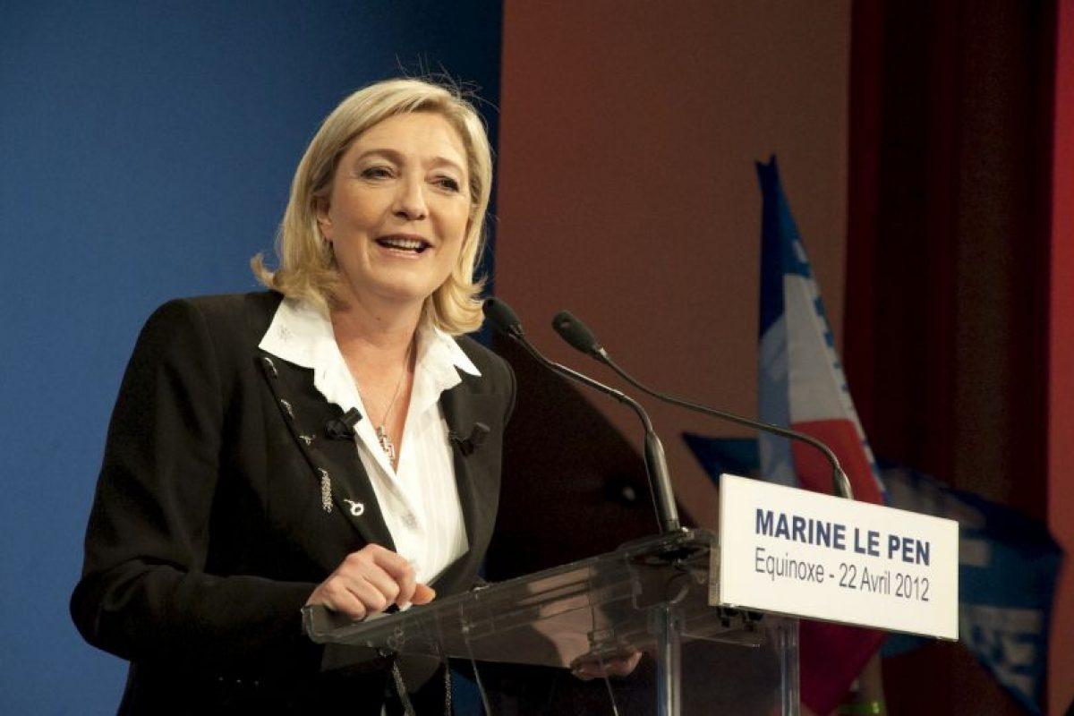 Marine Le Pen es la menor de las tres hijas de Jean-Marie Le Pen, presidente del Frente Nacional de 1972 a 2011. Foto:Wikicommons. Imagen Por: