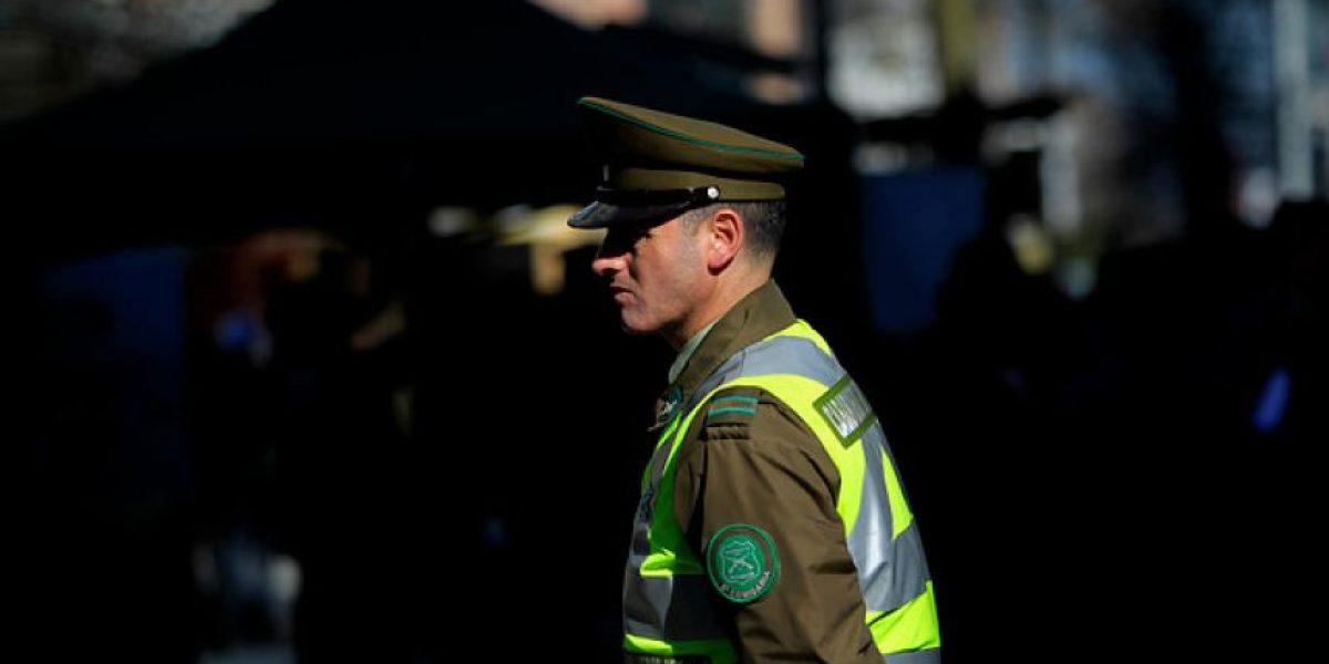 Oficial de Carabineros fue detenido por violencia intrafamiliar