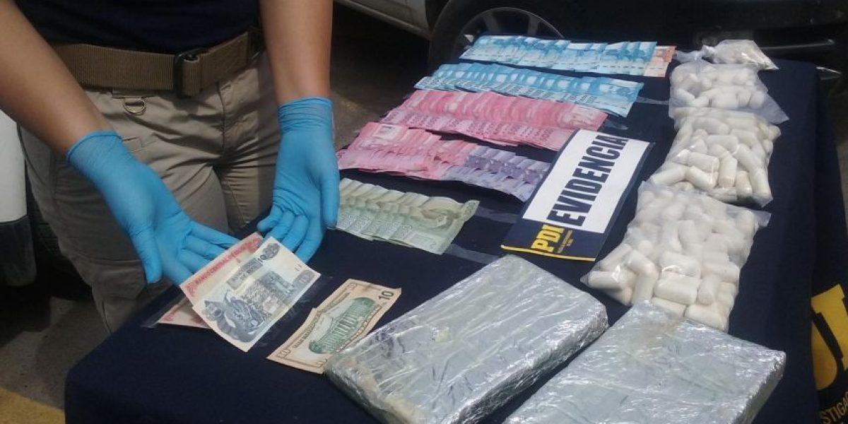 Valparaíso: 6 detenidos y 59 millones en droga decomisada dejó operativo PDI