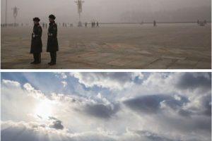"""Así luce Beijing """"inundada"""" por contaminación Foto:Getty Images. Imagen Por:"""