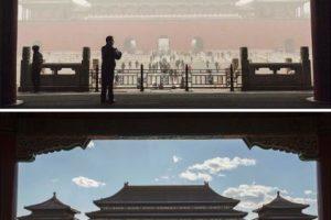 La imagen superior es del 1 de diciembre, mientras que la inferior es del día siguiente Foto:Getty Images. Imagen Por: