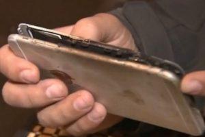 Un iPhone 6 Plus se incendió repentinamente. Foto:vía ABC News. Imagen Por: