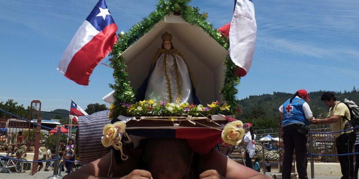 Las postales que deja la peregrinación al santuario de Lo Vásquez