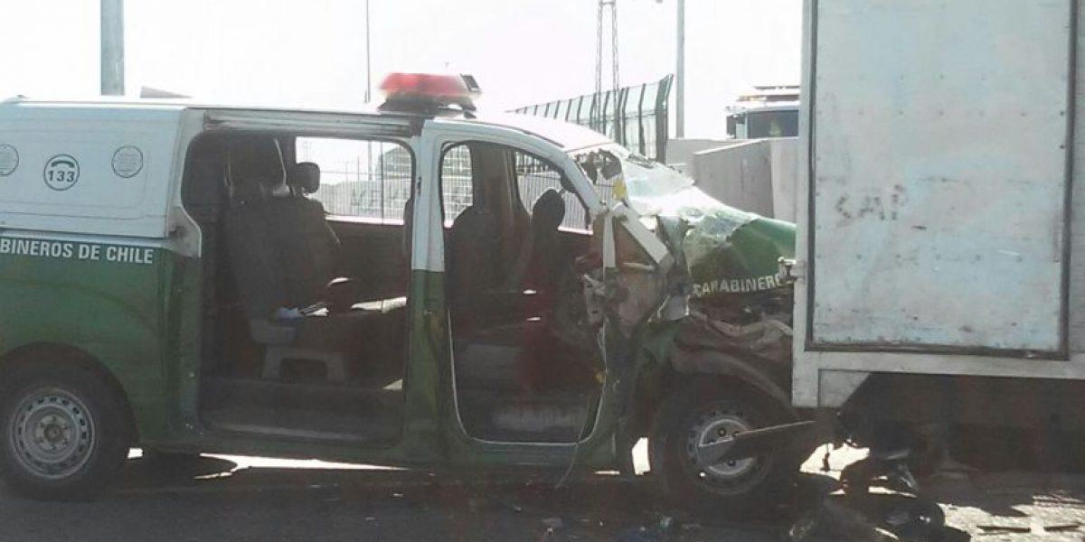 Puente Alto: choque en medio de persecución deja a carabineros heridos