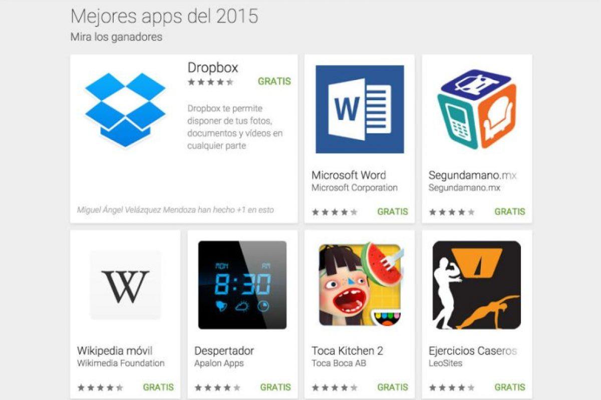 Conozcan las 50 mejores aplicaciones del 2015. Foto:Google.. Imagen Por: