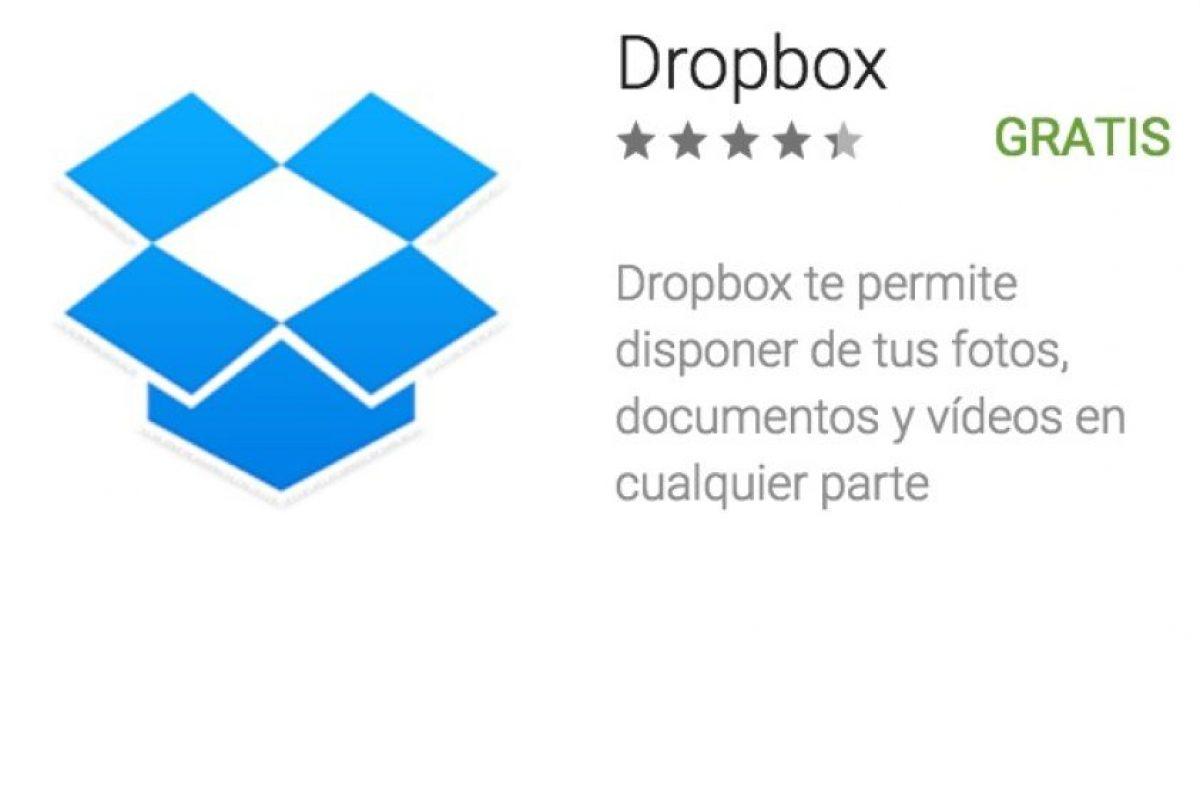 2- Dropbox. Uno de los servicios de almacenamiento en la nube más famosos del mundo. Foto:vía Google. Imagen Por: