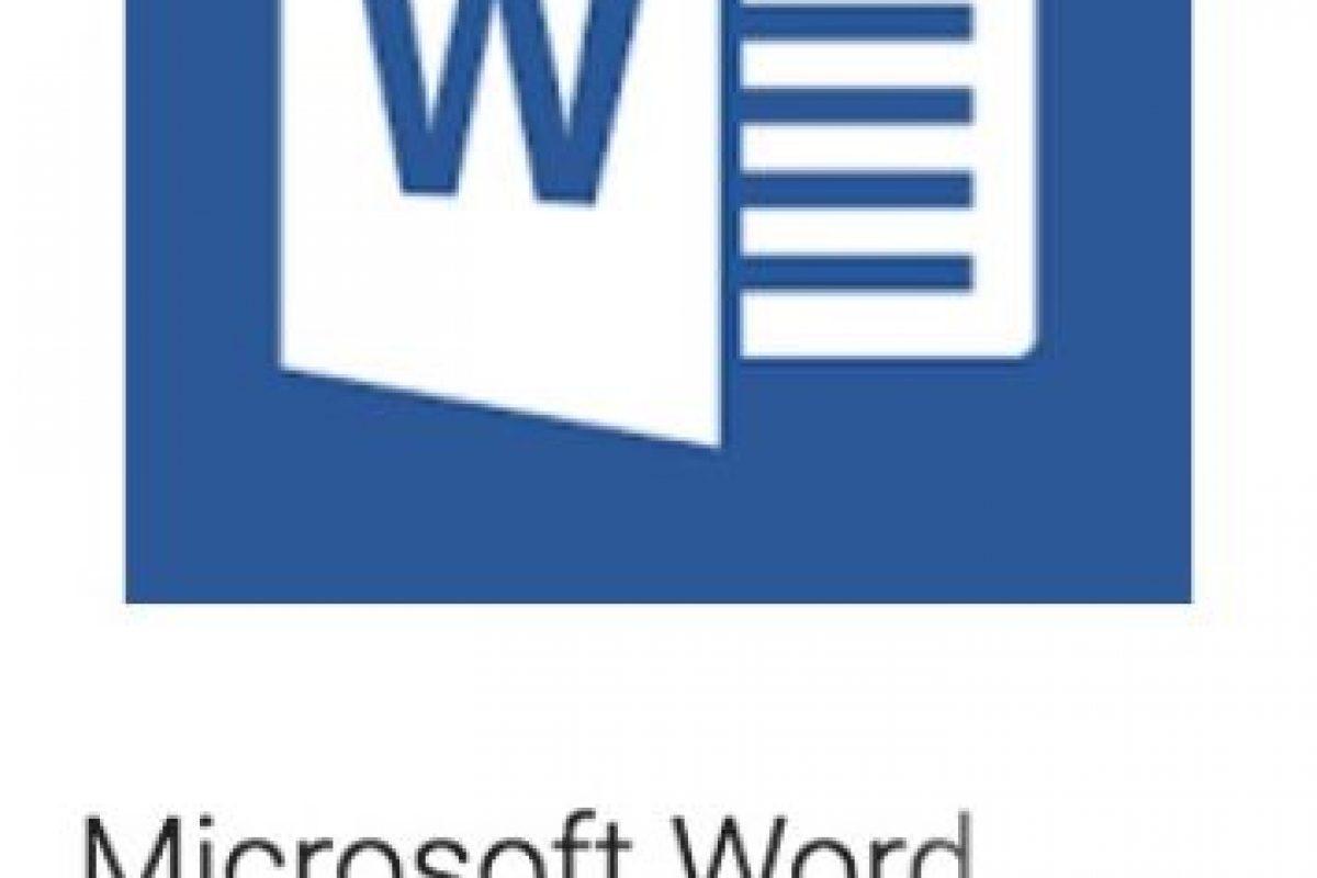 3- Microsoft Word. La versión para móviles del famoso procesador de textos. Foto:vía Google. Imagen Por: