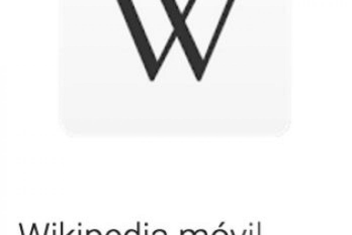 1- Wikipedia móvil. La app oficial de la enciclopedia gratuita más grande de Internet. Foto:vía Google. Imagen Por: