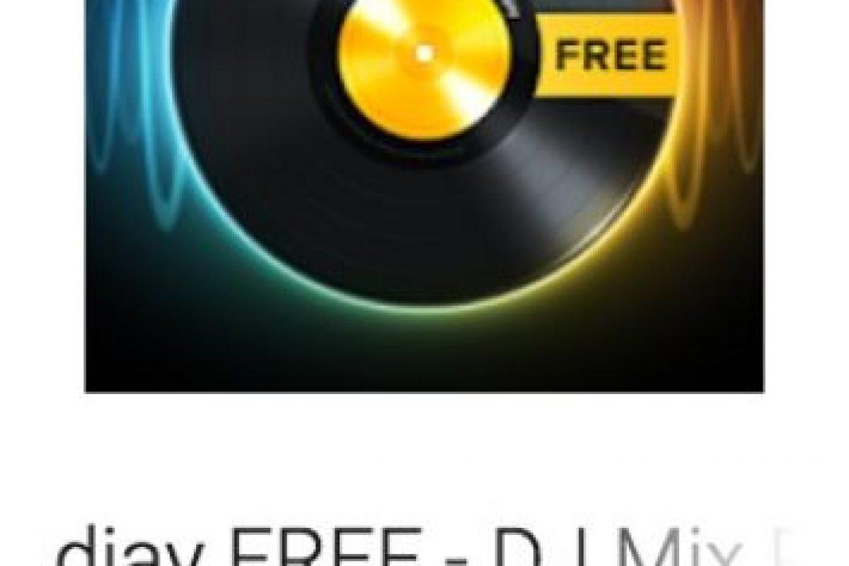 13- djay FREE – DJ Mix Remix Music. Pueden mezclar sus canciones favoritas de Spotify o crear su propia música. Foto:vía Google. Imagen Por: