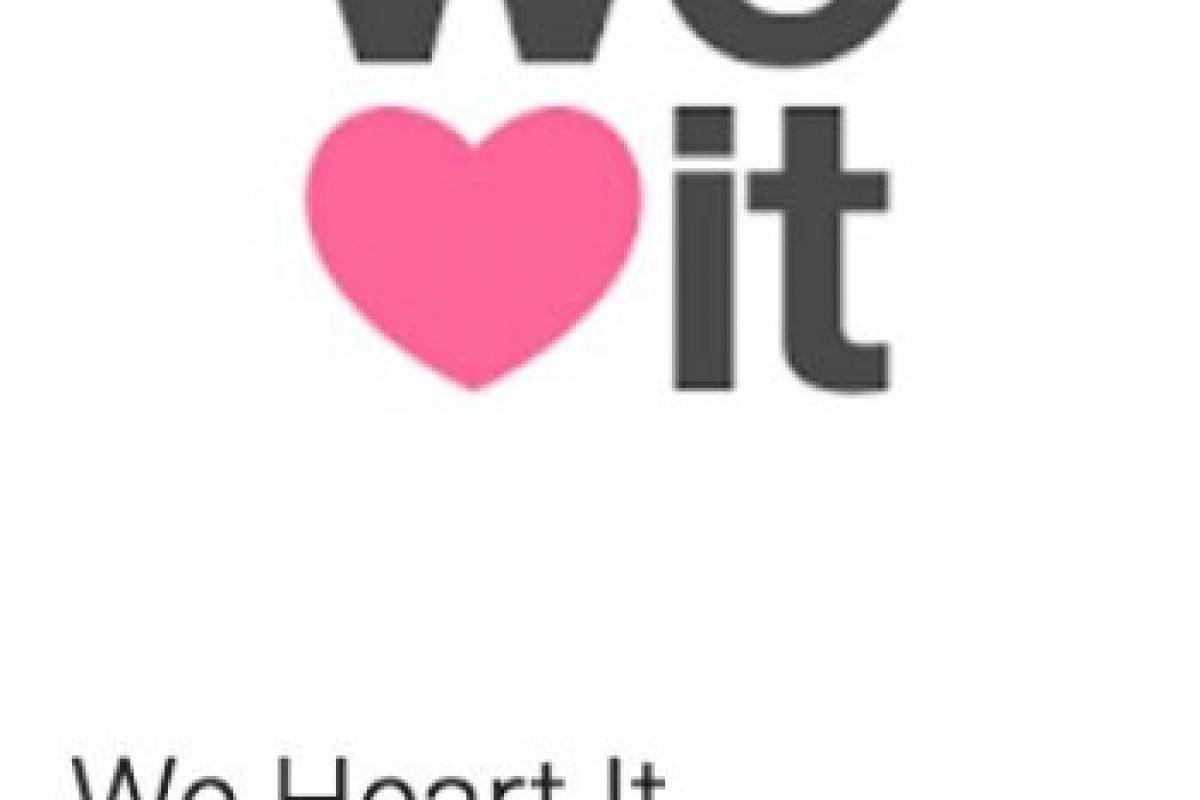 35- We Heart It. Pueden encontrar las más hermosas imágenes de todo lo que amas, inspiradas por millones de personas de todo el mundo. Foto:vía Google. Imagen Por: