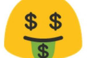 Ojos y lengua de dinero. Foto:vía emojipedia.org. Imagen Por: