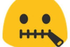 Boca cerrada con cinturón. Foto:vía emojipedia.org. Imagen Por: