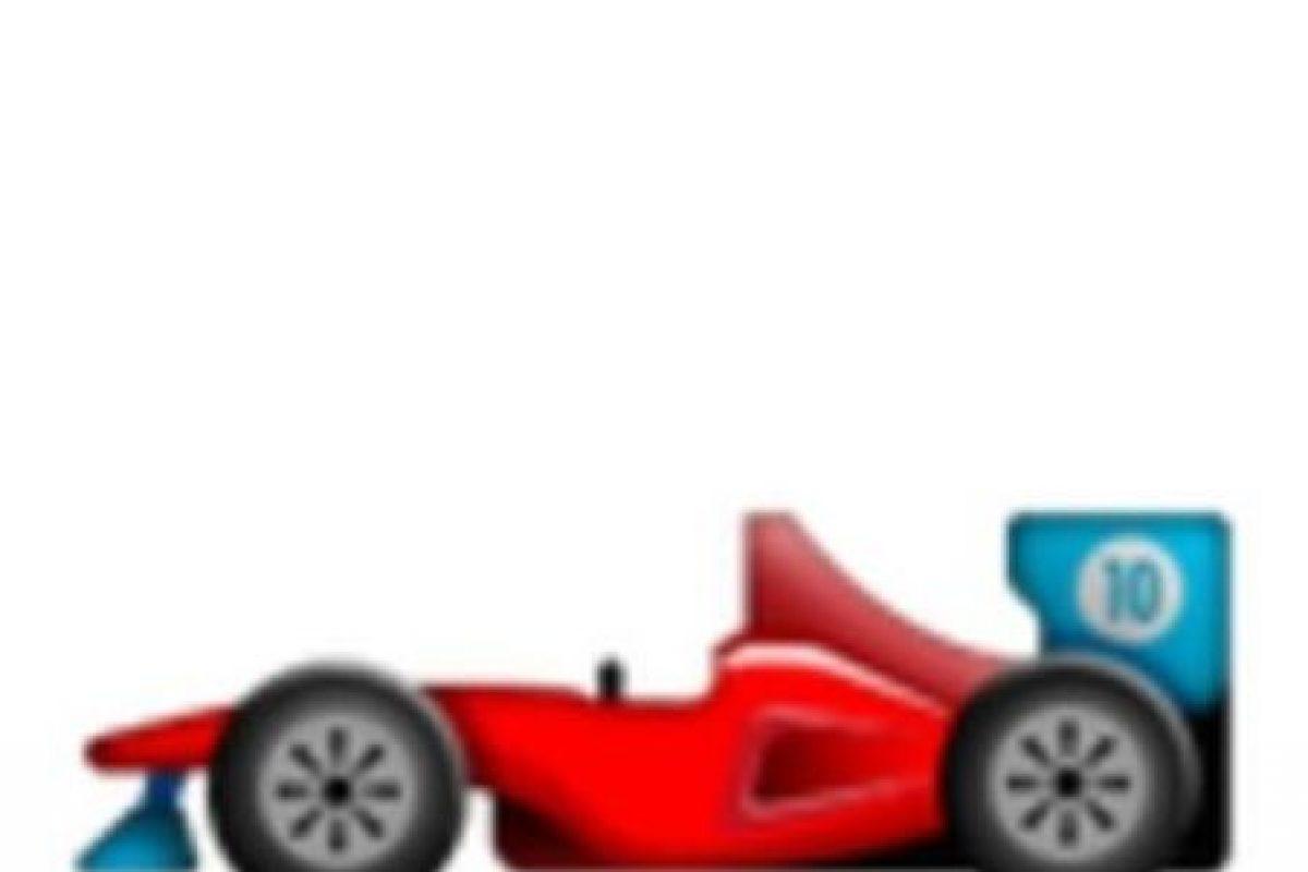 Auto de la Fórmula 1. Foto:vía emojipedia.org. Imagen Por: