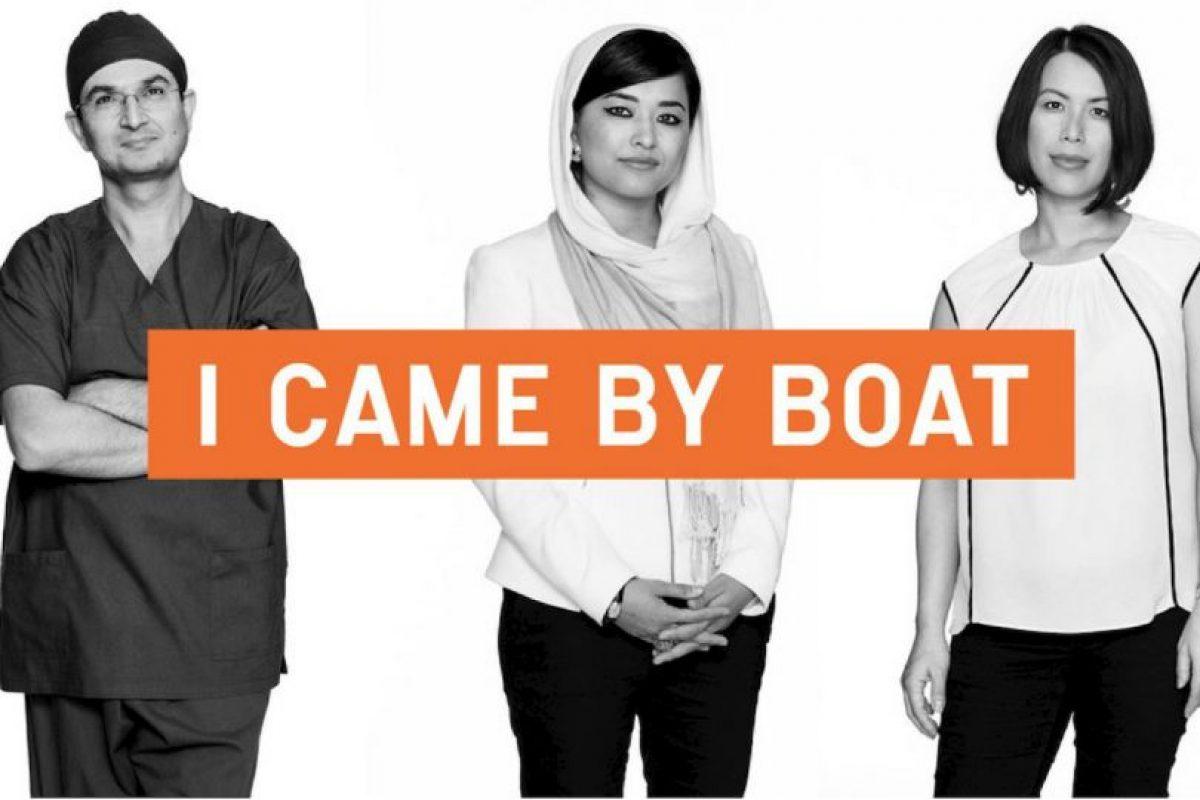 Su objetivo es cambiar la forma de verlos. Foto:chuffed.org/i-came-by-boat. Imagen Por: